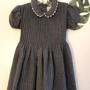 Gorgeous Grey and White Pinstripe dress - EUC